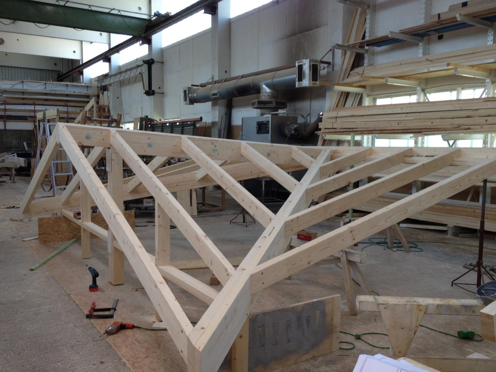 Préfabrication de la véranda par l'entreprise Willmann GmbH