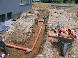 Vorarbeit Entwässerung